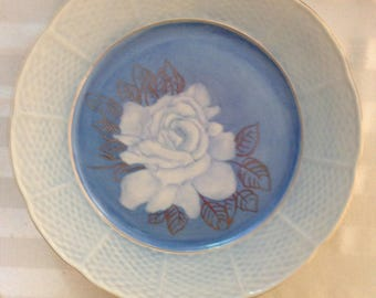 White rose plate
