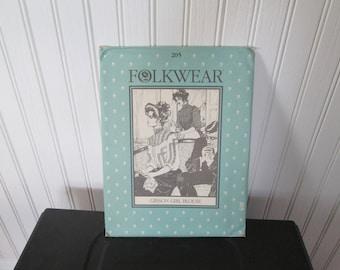 Victorian Gibson Girl Blouse Pattern Folkwear 205