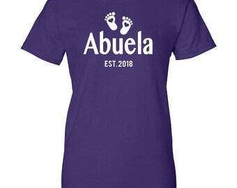 Abuela Est. 2018 - Women T-Shirt - Abuela Shirt - Abuela Gift