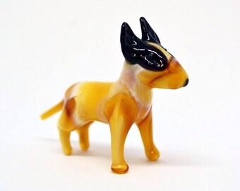 Glass bull terrier figures Dog, bull terrier Gifts bull terrier, bull terrier accessories art, christmas bull terrier ornaments Figurines