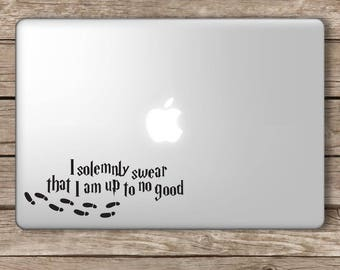 I Solemnly Swear Harry Potter Inspired Decal Vinyl Sticker Hogwarts Apple Laptop MacBook