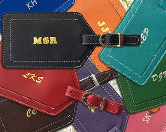 Personalized Leather Luggage Tag, Monogram Luggage Tag, Custom Luggage Tag, Destination Wedding Luggage Tag, Luggage Tag Wedding Favor