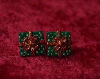 Christmas Gift Box Stud Earrings ,Holidays Christmasgifts,Gifts