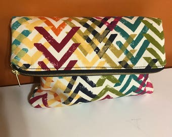 Multi Colored Directional Handbag