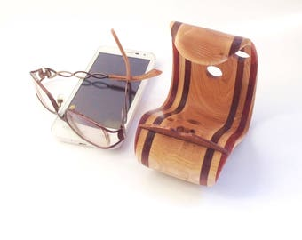 Phone stand Cell Phone holder Desk Cell phone stand Wooden phone holder Wood phone stand Wooden dock Wood dock