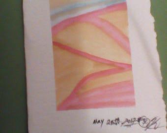 Watercolor note card plus envelope