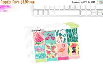 SALE Beach Vibes | Summer A La Carte Planner Stickers for Erin Condren ECLP Vertical