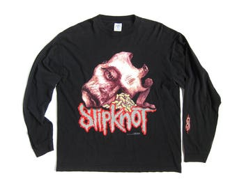 RARE Slipknot Long Sleeve Authentic Y2K Graphic Tee Shirt (Men's Size XL)