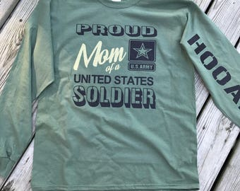 Proud Army Mom Long Sleeve Tee