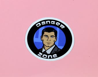 "Archer ""Danger Zone"" Vinyl Sticker"
