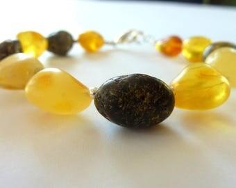 Natural Amber Bracelet Beaded Amber Bracelet Baltic Amber Bracelet Handmade Amber Bracelet