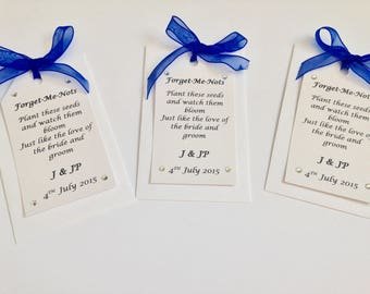 Flower Seed Wedding Favours