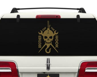 Brother of the Hook Car Window Decal ~ CARBROHOOK001
