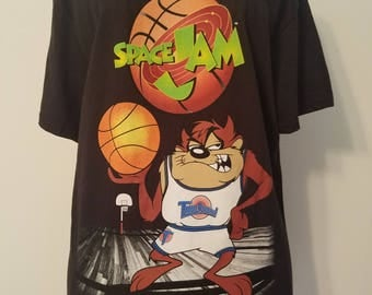 Totally 90s Fashion! 1990's Childhood - Space Jam-Taz-Tasmanian Devil-Looney Tunes - Mens/Juniors/Unisex Size M - Old Stock but New Product!