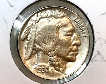 1930 S Buffalo Nickel - Choice BU / MS UNC
