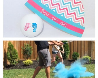 Baby Feet Golf Balls Gender Reveal Golf Ball Gender Reveal Ideas Gender Reveal Golf Balls Pink and Blue Baby Feet