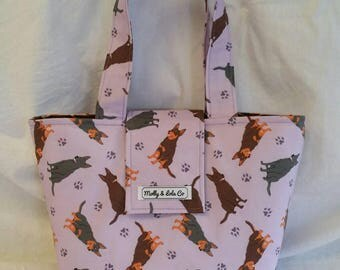Lunch Tote / Kelpie Lunch Tote / Lunch Bag / Insulated Lunch Bag / Insulated Lunch Tote / Snack Bag / Reusable Lunch Bag / Tote Bag / Kelpie