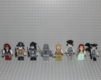 8 minifigures Pirates of the Caribbean, new