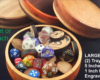 Set of Large Board Game Component Trays / Handmade / Hardwood / D&D / RPG / Tabletop Gaming