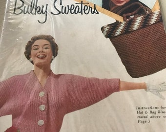SPRINGSALE Vintage Hats, Bags and Bulky Sweaters pattern book