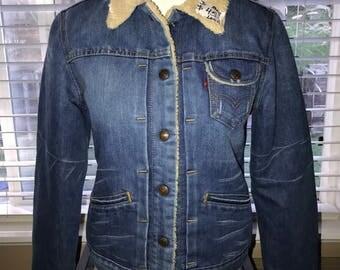 Levi's Lined Denim Jacket - Juniors Medium