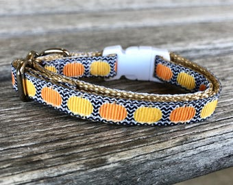 little pumpkin cat collar jack o lantern cat collar kitten collar halloween kitty