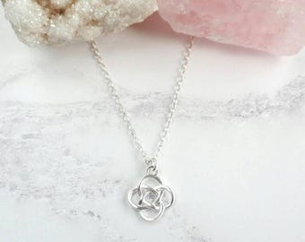 Sterling Silver Necklace - Silver Infinity Necklace - Celtic Knot - Celtic Necklace - Dainty Necklace - Thin Chain - Gift for Her