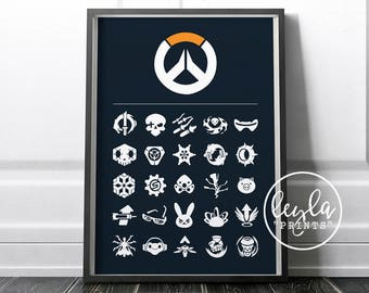 Overwatch Print - Minimalist Ultimate Abilities | Doomfist Poster | A6/A5/A4/A3 Illustration Print | Overwatch Poster | For Him, For Her