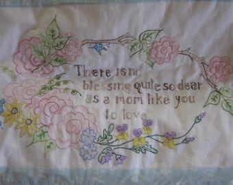 Best Mom Hand Embroidered Quilt