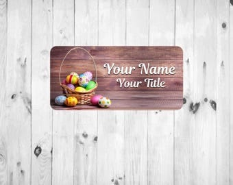 Painted Eggs Nametag