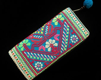 Hand embroidered bohemian gypsy wallet