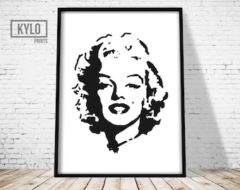Marilyn Monroe Print, Home Decor, Printable Art, Instant Download, Wall Art, Digital Print, Contemporary Wall Art, Marilyn Monroe Poster