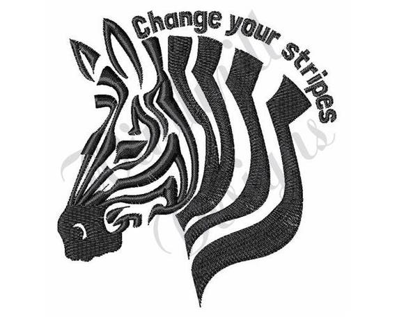 Zebra stripes machine embroidery design from