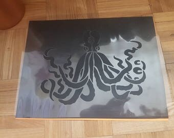 Large Octopus Stencil handcut
