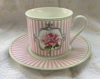 "Laura Ashley ""Celia"" Teacup & Saucer Set"