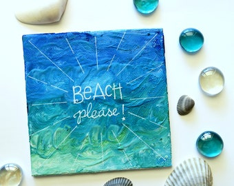 MINI Melted crayon art - Beach Please!