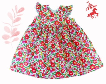 Dress ruffled Liberty® Grenadine