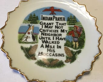 Decorative Indian Prayer Wall Plate