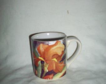 Vintage Peach Iris Coffee Mug