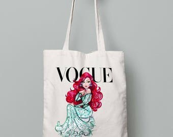 Disney Diva Ariel Canvas Tote Bag Shopper Shopping Everyday Gift Present