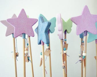 Wooden wand. Fairy Princess wand
