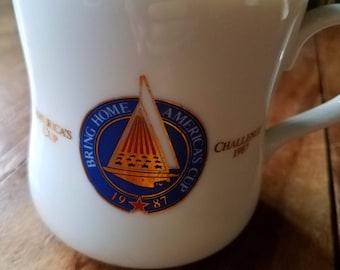 America's Cup 1987 Mug, Vintage Mugs, America's Cup