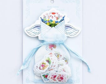 "Stickers 100-piece ""Garden organza bag"""