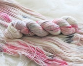 Pink Ladies Hand Dyed Fingering Weight Yarn for Knitting and Crochet