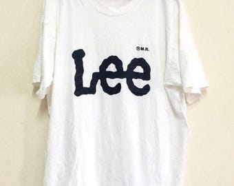 20% OFF Vintage LEE Shirt Spell Out Big Logo /Made In Usa /LARGE