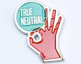 "True Neutral RPG Alignment 1.25"" Enamel Pin"