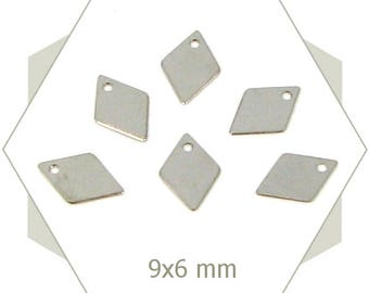 20 charms mini silver diamonds, small sequins BA08