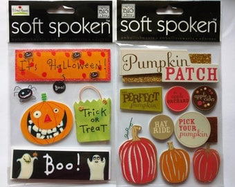 Halloween Scrapbook Stickers Set of 2 by Me & My Big Ideas, Pumpkin Patch, It's Halloween, Trick or Treat