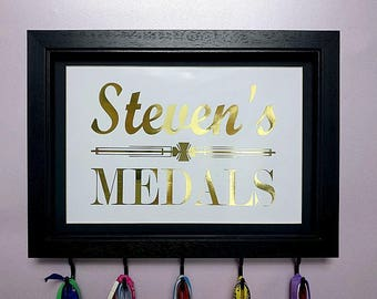 Personalised Medal Hanger, Running Gift, Colour Options, Sports Medals, Running Gift, Medal Display,Dance Medals, Race Bling, Trophy Display