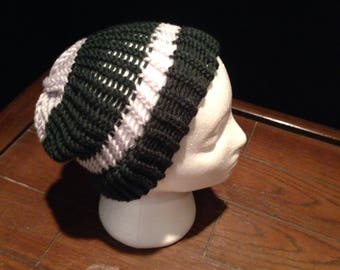 Handmade toque/beanie. Fun striped colors.